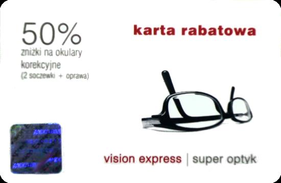 kupon rabatowy vision express